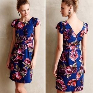 Anthropologie Moulinette Soeurs Blue Floral Dress